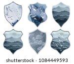 watercolor crests set romantic...   Shutterstock . vector #1084449593