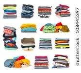 stacks of clothing collection... | Shutterstock . vector #108445397