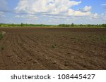 farming rows seeds plalnted | Shutterstock . vector #108445427