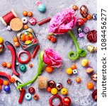 beads  colorful beads for... | Shutterstock . vector #1084456277