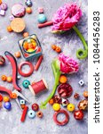 beads  colorful beads for... | Shutterstock . vector #1084456283