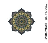 mandala. round ornament floral... | Shutterstock .eps vector #1084477067