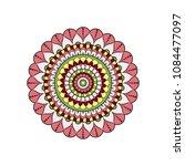mandala. round ornament floral... | Shutterstock .eps vector #1084477097