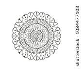 mandala. round ornament floral... | Shutterstock .eps vector #1084477103
