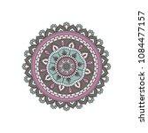 mandala. round ornament floral... | Shutterstock .eps vector #1084477157