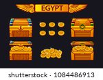 vector egypt antique treasure...   Shutterstock .eps vector #1084486913