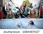 pro palestinian activists... | Shutterstock . vector #1084487027