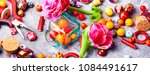 beads  colorful beads for... | Shutterstock . vector #1084491617