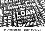 loan borrow money mortgage... | Shutterstock . vector #1084504727