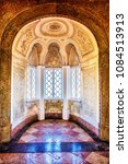 Small photo of Sintra, Lisbon Region, Portugal - August 12, 2016: Interior Architecture of Pena Palace, City of Sintra, Lisbon Region, Portugal