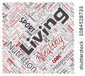 vector conceptual healthy... | Shutterstock .eps vector #1084528733