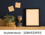 close up on bookshelf with... | Shutterstock . vector #1084533953