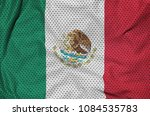 mexico flag printed on a... | Shutterstock . vector #1084535783