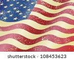 american grunge flag. grunge... | Shutterstock .eps vector #108453623