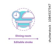 dining room concept icon....   Shutterstock .eps vector #1084537547