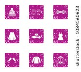 women outfit icons set. grunge... | Shutterstock .eps vector #1084560623