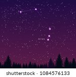 night sky with aries... | Shutterstock .eps vector #1084576133