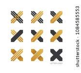 set of letter x logo design    Shutterstock .eps vector #1084585553