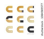 set of letter c logo design    Shutterstock .eps vector #1084585577