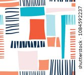 abstract pattern seamless with... | Shutterstock . vector #1084592237