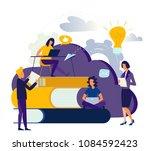 flat illustration  cloud... | Shutterstock . vector #1084592423