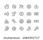 simple set of bitcoin related... | Shutterstock .eps vector #1084592717