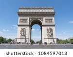 view of arch of triumph at... | Shutterstock . vector #1084597013