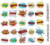 exclamation texting comic signs ... | Shutterstock .eps vector #1084608497