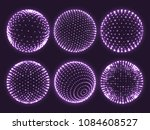 geometry grid 3d sphere with... | Shutterstock .eps vector #1084608527