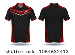 t shirt polo design red and... | Shutterstock .eps vector #1084632413
