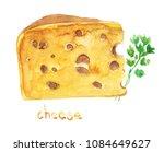 watercolor hand drawn sketch... | Shutterstock . vector #1084649627