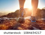 cross country running in summer ... | Shutterstock . vector #1084654217