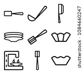set of 9 simple editable icons... | Shutterstock .eps vector #1084660247