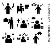 set of 9 simple editable icons... | Shutterstock .eps vector #1084660943