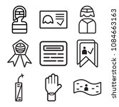 set of 9 simple editable icons... | Shutterstock .eps vector #1084663163