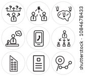 set of 9 simple editable icons... | Shutterstock .eps vector #1084678433