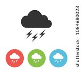 thunderstorm vector one flat... | Shutterstock .eps vector #1084680023
