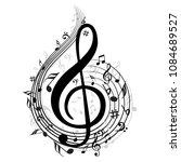 music note background with... | Shutterstock .eps vector #1084689527