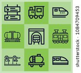 outline train icon set such as... | Shutterstock .eps vector #1084709453