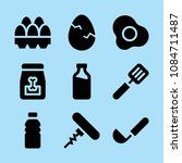 filled food icon set such as... | Shutterstock .eps vector #1084711487