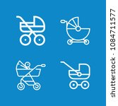 outline carriage icon set such...   Shutterstock .eps vector #1084711577