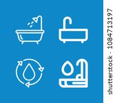 outline bathroom icon set such... | Shutterstock .eps vector #1084713197