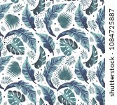 tropical seamless pattern with... | Shutterstock .eps vector #1084725887