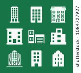 filled set of 9 apartment icons ... | Shutterstock .eps vector #1084727927