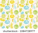 cute vector seamless pattern... | Shutterstock .eps vector #1084728977