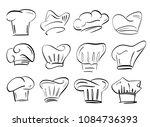 chef hat vector illustration.... | Shutterstock .eps vector #1084736393