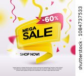 big sale banner for your... | Shutterstock .eps vector #1084737533