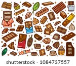 hand drawn chocolate doodle | Shutterstock .eps vector #1084737557