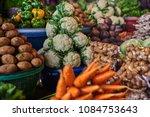 assortment fresh organic... | Shutterstock . vector #1084753643