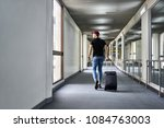 guy in a crimson hat with a...   Shutterstock . vector #1084763003